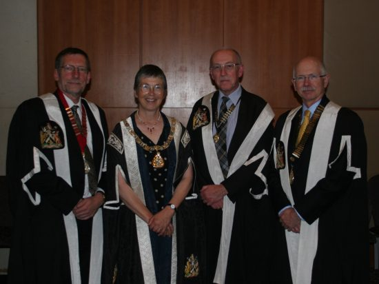 With fellow devolved chairs and Iona Heath Past president